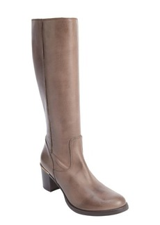 Charles David taupe leather side zip 'Jacob' boots