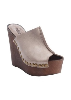 Charles David taupe suede seam detail open toe wedge 'Recchia' sandals