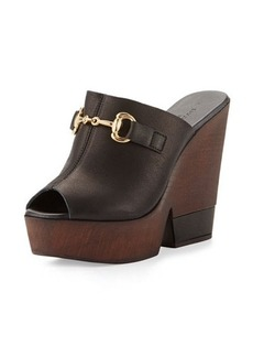 Charles David Tony Horsebit Leather Wedge Sandal