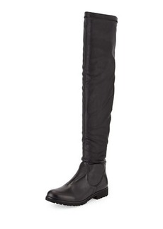 Charles David Valeria Low-Heel Leather Boot