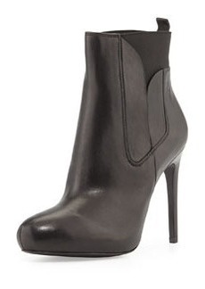 Charles David Yadira Leather Platform Bootie, Black
