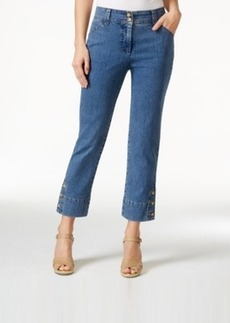 Charter Club 3-Button Denim Capri, Antique Indigo Wash