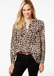 Charter Club Animal-Print Button-Down Shirt, Only at Macy's