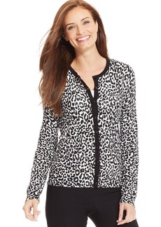 Charter Club Petite Animal-Print Cardigan