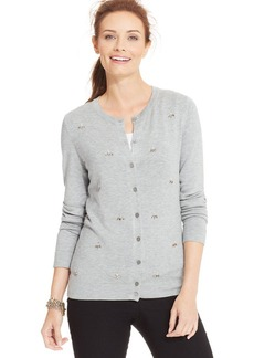 Charter Club Petite Beaded Cardigan