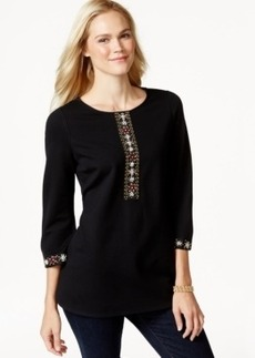 Charter Club Beaded Tunic, Only at Macy's