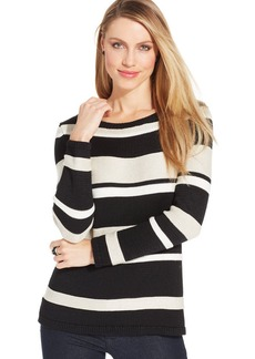Charter Club Boat-Neck Striped Sweater