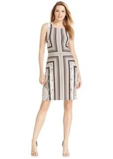 Charter Club Border-Print Sleeveless Shift Dress