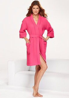 Charter Club Bright Woven Waffle Robe
