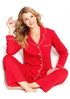 Charter Club Brushed Knit Top and Pajama Pant Set