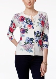 Charter Club Button-Front Cardigan Sweater, Floral Print