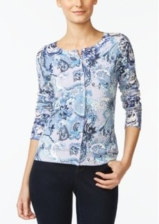 Charter Club Button-Front Cardigan Sweater, Paisley Print