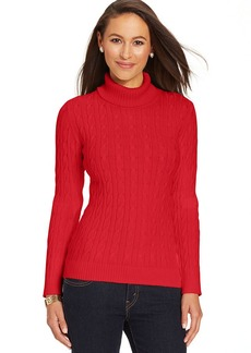 Charter Club Cable-Knit Turtleneck Sweater