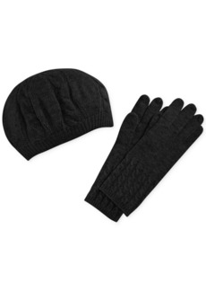 Charter Club Cashmere Cable Knit Gloves