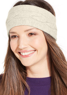 Charter Club Cashmere Cable Knit Headband