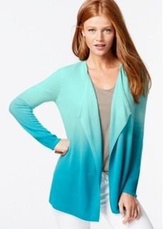 Charter Club Petite Cashmere Dip-Dyed Cardigan