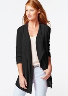 Charter Club Cashmere Draped Cardigan
