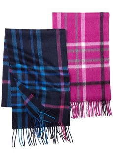 Charter Club Cashmere Exploded Plaid Signature Muffler Scarf