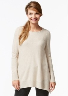 Charter Club Cashmere Handkerchief-Hem Sweater