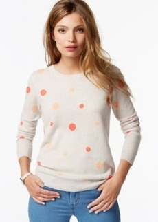Charter Club Petite Cashmere Polka-Dot Sweater