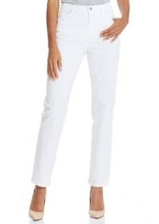 Charter Club Classic Kate Straight-Leg Jeans, White Wash