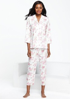 Charter Club Collection Sateen Top and Capri Pajama Pants Set