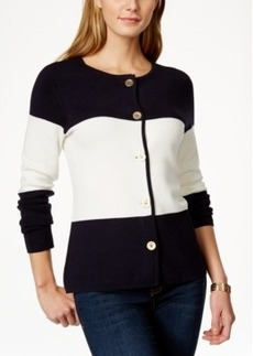 Charter Club Colorblocked Cardigan Sweater, Only at Macy's