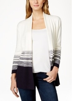Charter Club Colorblocked Striped Cardigan Sweater, Only at Macy's