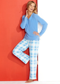 Charter Club Cotton Candy Mix It Up Top and Pajama Pants Set