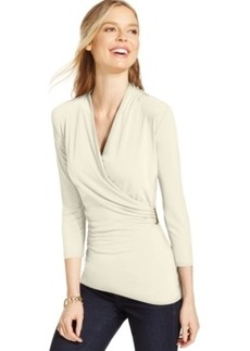 Charter Club Crossover Wrap Top, Only at Macy's