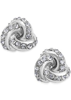 Charter Club Crystal Knot Stud Earrings, Only at Macy's