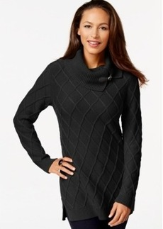Charter Club Diamond-Knit Tunic Sweater, Only at Macy's
