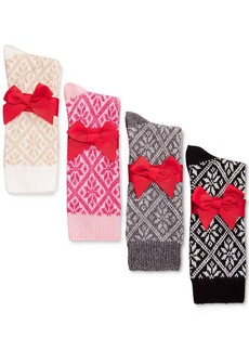 Charter Club Diamond Snowflake Cashmere Socks