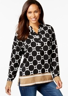 Charter Club Dolman-Sleeve Border-Trim Top, Only at Macy's