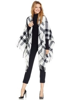 Charter Club Exploded Plaid Blanket Wrap