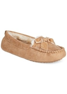 Charter Club Faux Fur Moccasin Slippers with Memory Foam, Only at Macy's