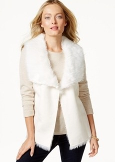 Charter Club Faux-Fur Vest, Only at Macy's