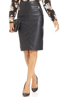Charter Club Faux-Leather Pencil Skirt