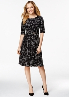 Charter Club Fit-and-Flare Polka-Dot Dress, Only at Macy's
