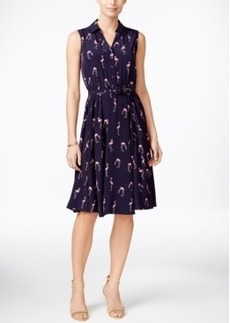 Charter Club Flamingo-Print Shirtdress, Only at Macy's