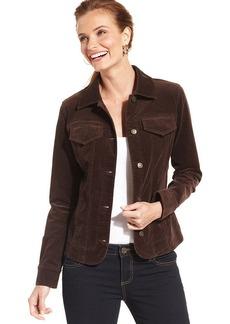 Charter Club Flap-Pocket Corduroy Jacket
