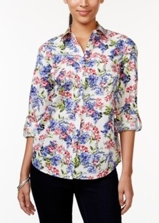Charter Club Button-Down Shirt, Floral Print