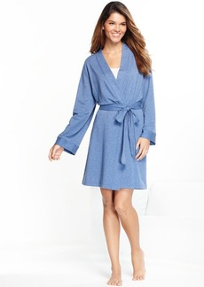 Charter Club French Terry Denim Heather Kimono Robe
