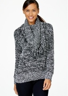 Charter Club Fringed Detachable-Collar Sweater, Only at Macy's