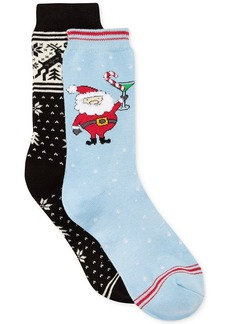 Charter Club Fun Santa Christmas Socks