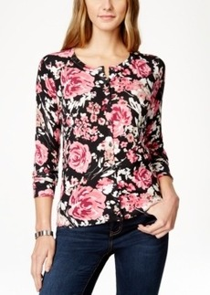 Charter Club Garden Rose Cardigan Sweater, Only at Macy's