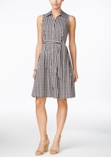 Charter Club Gingham-Print Shirtdress, Only at Macy's
