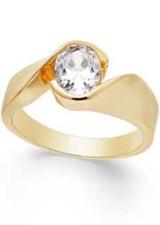 Charter Club Gold-Tone Crystal Ring