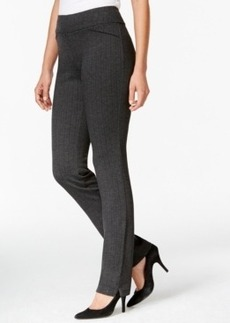 Charter Club Herringbone Pull-On Pants, Only at Macy's