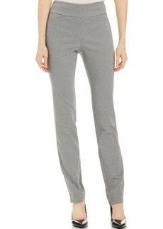 Charter Club Houndstooth Straight-Leg Pull-On Trousers, Only at Macy's